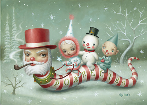 mark-ryden-santa-worm